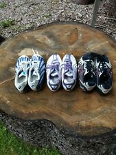 3 pairs used Asics cross country running spikes