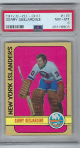 1972-73 OPC Gerry Desjardins New York Islanders #119 PSA NM-MT 8
