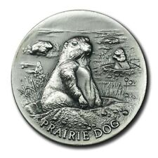 Longines Symphonette America Wildlife Prairie Dog 1+ Oz Fine Silver High Relief