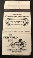 Matchbook Cover The Griswold Inn Essex CT