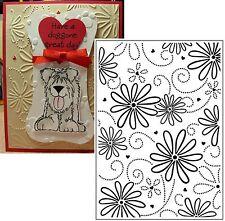 Darice embossing folders LARGE PETAL Embossing Folder 1215-70 Flowers,daisies