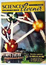 SCIENCES ET AVENIR 5/1957; Spécial portes de l'an 2000/ l'homme de demain