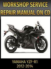 Yamaha YZF-R1 Service and Repair Manual YZFR1 R1 2012 2013 2014 PDF CD