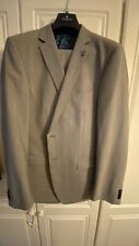 "VAN KOLLEM MENS Two Pieces 100% WOOL Suit SIZE U.K 44""R/ 36""R NEW """