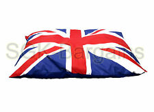 Union Jack LARGE Fabric & Foam Puppy Pet Dog Cat Nesting Bed Mat Basket Pillow