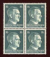 DR Nazi 3rd Reich Rare WW2 Service Stamp 1942 Adolf Hitler's Head NSDAP Official