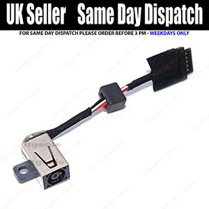 Dell XPS 13 9343 9350 9360 DC IN Power Jack Charging Port Socket Cable CN-00P7G3
