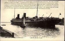 Schiffe 1937 Le Havre Sortie de bateaux Schiff Dampfer Steamer Ship Postcard