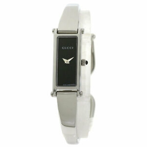 GUCCI Square face Watches 1500L Stainless Steel/Stainless Steel Ladies SALE2