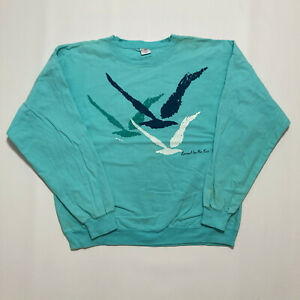 Vintage Crazy Shirts Hawaii Unisex Sweatshirt Size L 80's Retro Relaxed Pullover