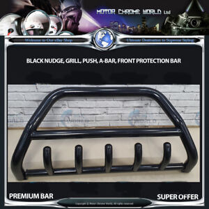 FITS TO FIAT FREEMONT BLACK BULL BAR AXLE NUDGE PUSH GRILL A-BAR 60mm 2012+