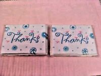 Thank You Cards Blank Inside 2 Packs of 10 each Heartline Made In USA NEW