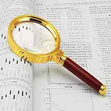 90mm Handheld 10X Magnifier Magnifying Glass Jewelry Loupe Reading Tools New