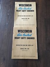 Pair Of Wisconsin Air Cooled Heavy Duty Engine Instruction Book & Parts List