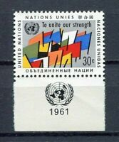 19040A) United Nations (New York) 1961 MNH New Flags + Lab