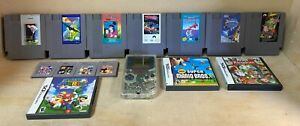 Nintendo Items Mixed Lot Games Gameboy NES Nintendo DS
