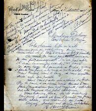 """PISSOS (40) CAFE-CLUB AMBIANCE """"CERCLE DE L'UNION"""" Lettre en 1914"""