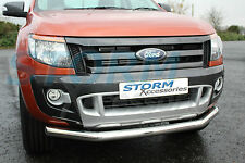 FORD Ranger T6 2012-2019 in acciaio inox CITY BAR-Bull Bar-SPOILER BAR 70mm
