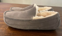 UGG ASCOT 1101110 GREY MEN'S SLIPPERS AUTHENTIC SIZE 11, BRAND NEW