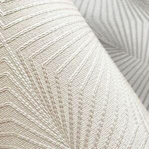 Muriva 801301 Solitare Cream Heavyweight Geometric Wallpaper - open roll