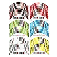 """12X 17"""" Motorcycles Outer Rim Sticker Stripe Wheel Decals Fit For SUZUKI GSXR"""