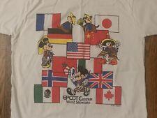vtg 80s Epcot Center Mickey Mouse t shirt sesame street world disneyland disney