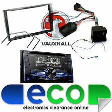 Vauxhall Astra H JVC Double Din CD MP3 USB AUX Car Stereo Piano Black Fascia Kit