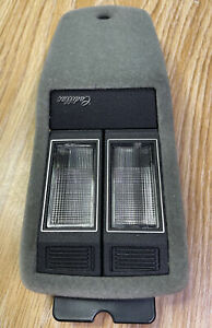 Cadillac DOME + MAP Lights  w/ Sun Visor Clips OEM 1977-1992 Gray