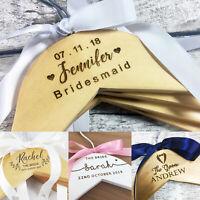 Personalised Bridal Hangers Wedding Dress Bridesmaid Flower Girl Engraved Wood