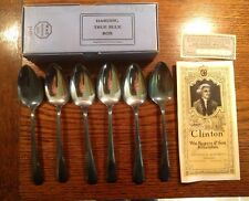 Vintage WM Rogers & Son AA Tea Spoon Silverplate Set 6 inches 1925 Galesburg IL