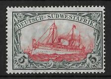GERMAN SOUTH WEST AFRICA 1906-1919 Mint Hinged 5 M Michel #32A