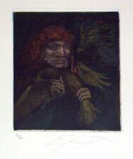 """Ernst Fuchs """"Sechzehn und eins"""" Original Aquatint S/N"""