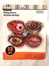 Halloween Eye Patch Party Favors 12 pc Elastic Band 5+ years 4 Designs New