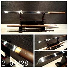 FULL TANG JAPANESE SAMURAI SWORD NINJA KATANA STRAIGHT KNIFE ROSEWOOD SHELL#070