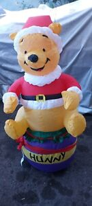 Gemmy Disney Winnie The Pooh Christmas Hunny 4ft Inflatable Display 2005 Tested
