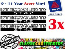 INTERCOOLED TD ST 4.2 Sticker Decal for Nissan Patrol