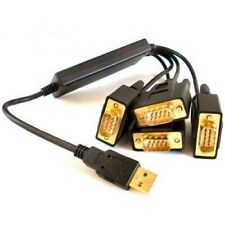 USB to 4 x RS232 Serial Converter Adapter - High Quality FTDI CHIPSET WIN 7 8 10
