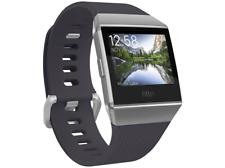 Fitbit Ionic GPS Caja de Aluminio en Gris Plateado y Correa de Elastómero en Gris Azulado, Reloj Inteligente (FB503WTGY-EU)