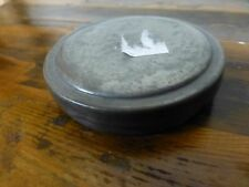 """Nice Antique pewter box 2 3/4"""" wide late 19th C. [Y7-W6-A9]"""