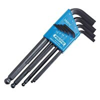 Proto J4996 9-Piece Ball Style Metric Hex Key Set With Plastic Holder