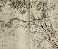 North Africa Barbary Mediterranean Arabia Red Sea c. 1800 scarce folding old map