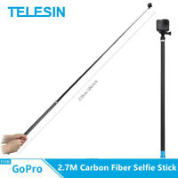TELESIN 2.7 M Extra long Extendable selfie stick For Gopro & Other Action Camera