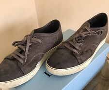Lanvin Designer Shoe Brown  Leather Textured Uk 8 Trainer Sneaker Used With Box