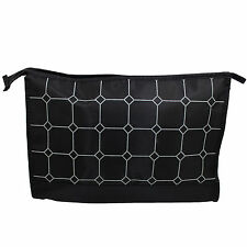 Travel Toiletry Cosmetic Makeup Bath Shower Wash Shaving Bag - Black