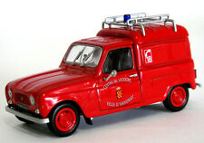 wonderful RENAULT 4 Fourgonnette pompiers D'Annonay ´65  - scale 1/43 -  red