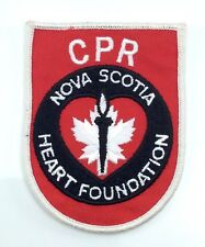 Nova Scotia Heart Foundation CPR Canada Badge Sew On Patch H099z