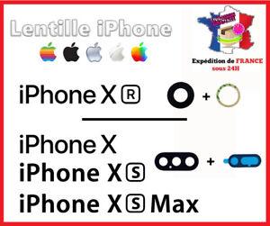 IPHONE X-Xr-XS-XS Max Lentille vitre arrière caméra appareil photo Lens verre