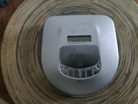 Sony D-465 Mega Bass Portable CD Player Discman Walkman AS IS for repair/parts