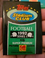 1992 TOPPS STADIUM CLUB FOOTBALL CARDS Unopened Pack Series 2 huge names!