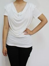 Regular Solid Viscose Short Sleeve Tops & Blouses for Women